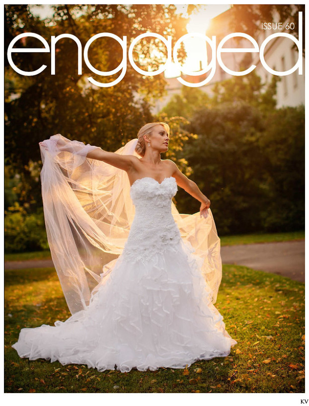 The beautiful bride I ENGAGED Wedding Magazine cover
