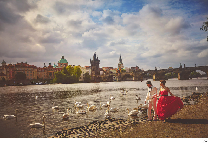 Best pre wedding portraits from Prague Czech Republic