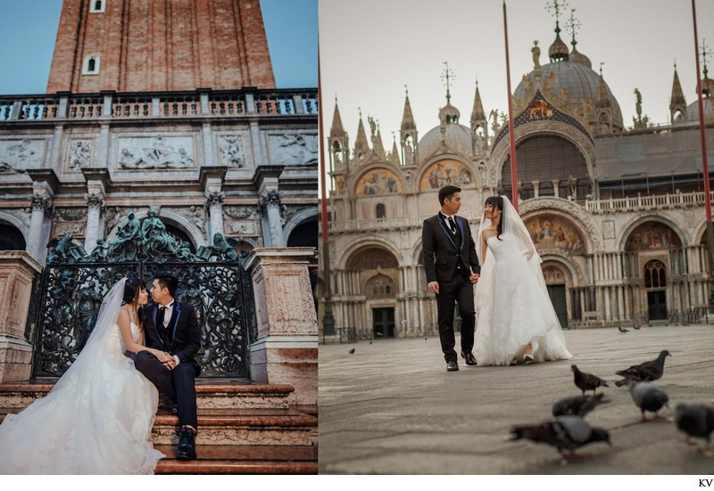 St Mark's Basilica, Venice pre wedding photos