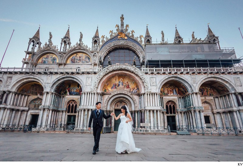 St Mark's Basilica, Venice pre wedding photo