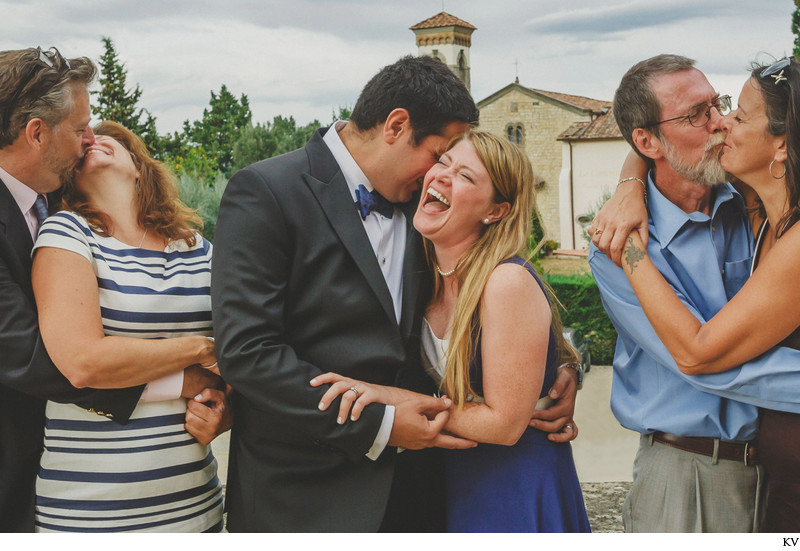 Family Photo Time - Castle Vicchiomaggio wedding Italy