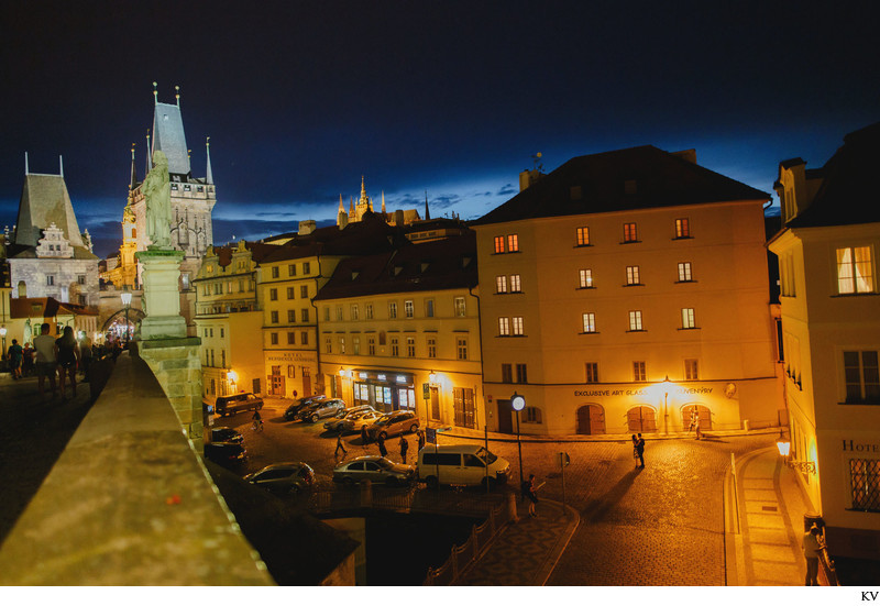 romantic Prague marriage proposal Mala Strana photo