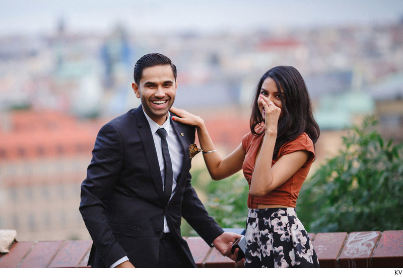 The surprise marriage proposal in Prague P+J in photos