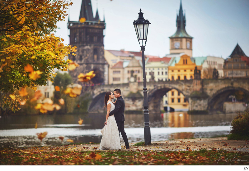 Irene & Ryan pre-wedding photographs from Prague