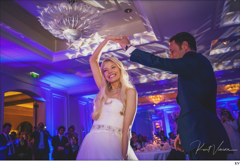 Four Seasons Prague happy bride 1st wedding dance