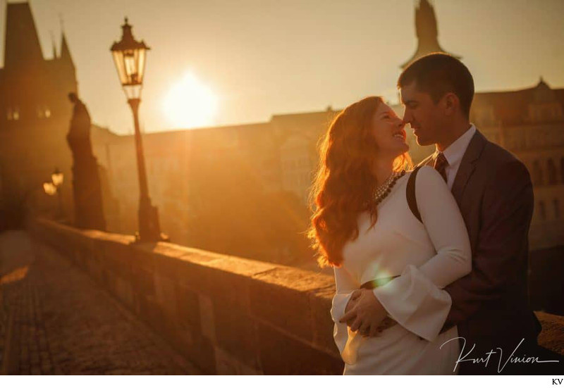 Golden Hour is for lovers - Charles Bridge photo