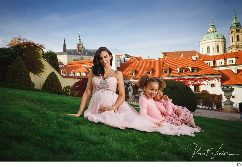 beautiful on-location studio family portraits in Prague