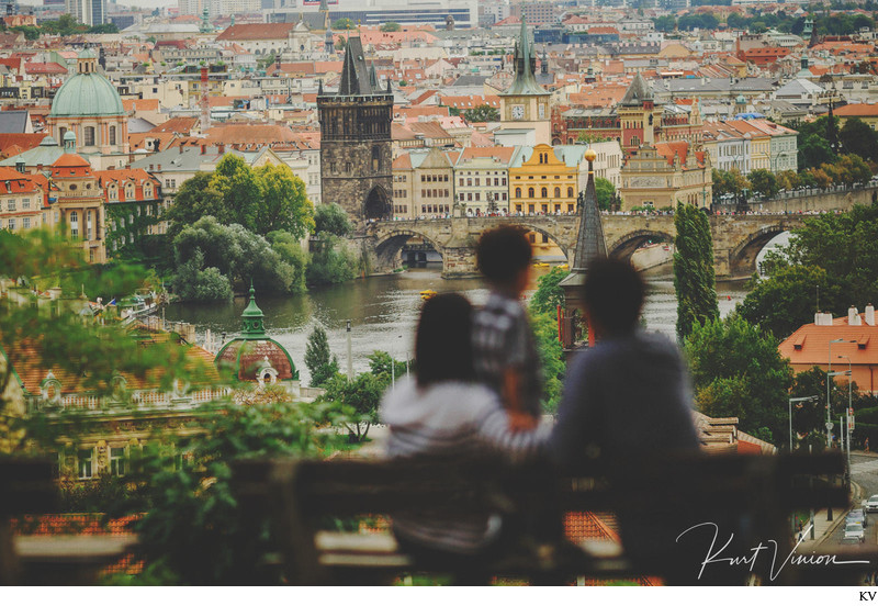 Overlooking Prague with Mama & Papa