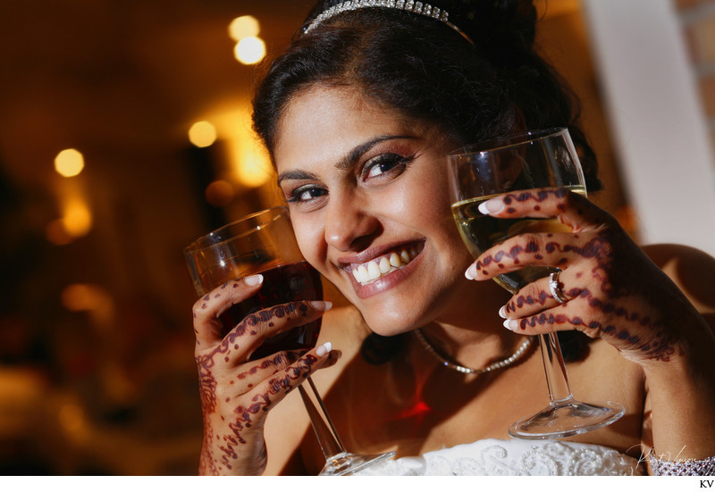 Party Time - the bride and her wine - Prague wedding