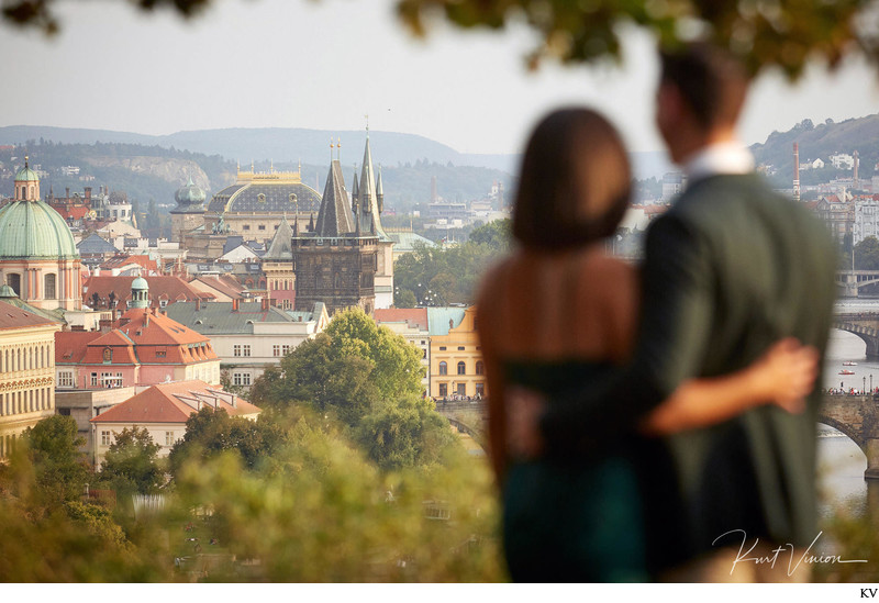 overlooking Prague surprise marriage proposal
