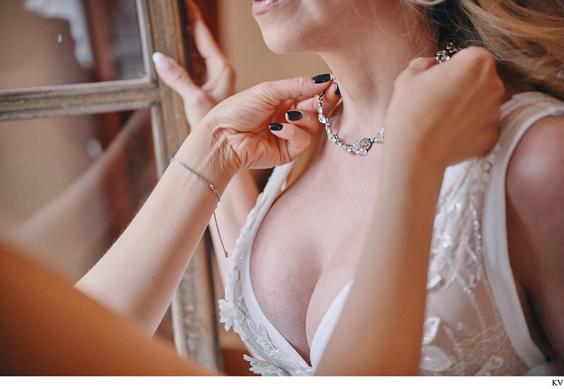 Hluboka nad Vltavou Castle wedding brides necklace
