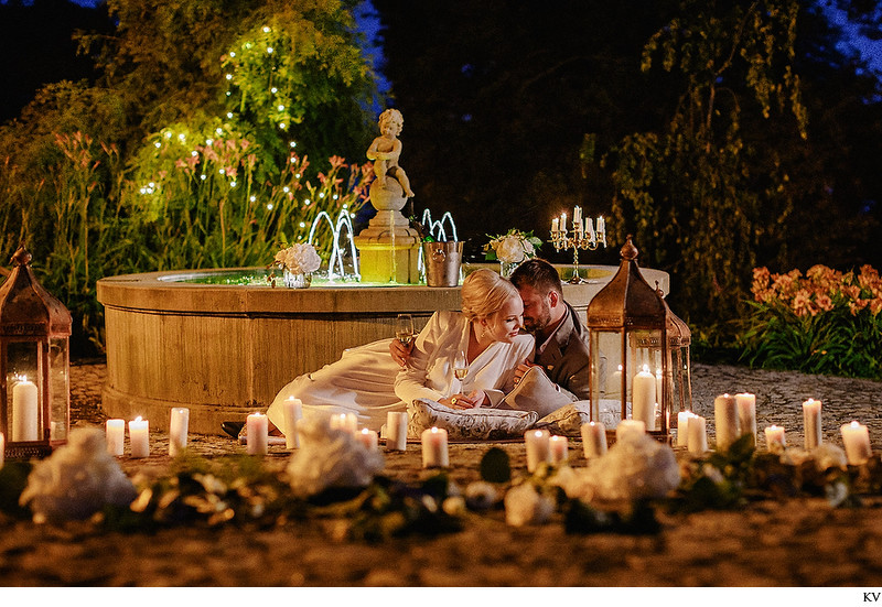 Chateau Mcely luxury weddings Candlelit motif