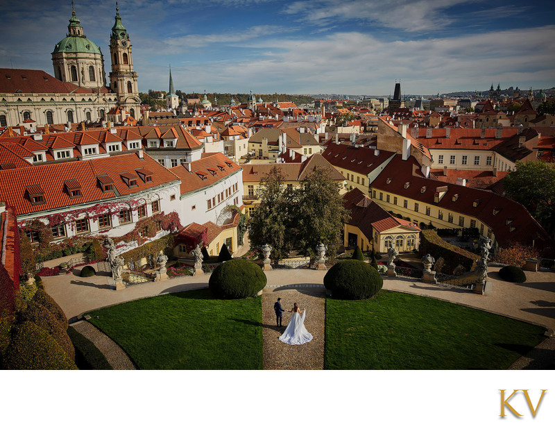 Above Prague - Zoe & Billy - Vrtba Garden panoramic