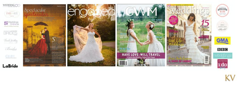 Magazines featuring wedding photographer Kurt Vinion