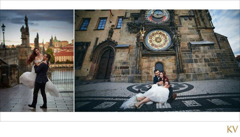 Turkish bride & Groom at Old Town Square in Prague