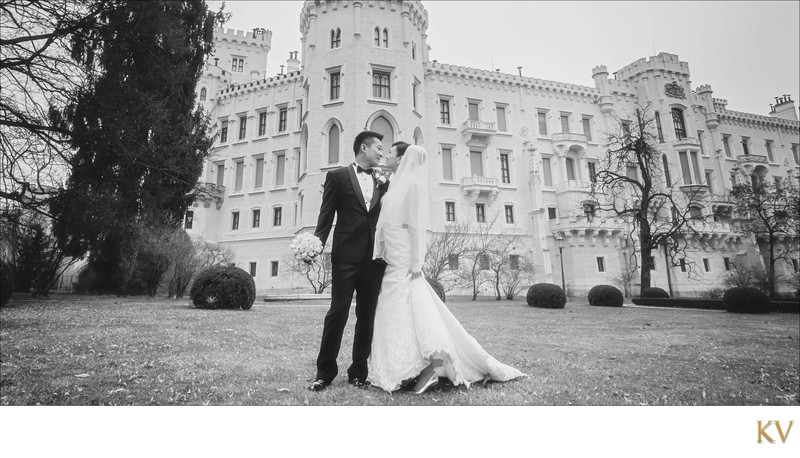 S&S black and white portrait Castle Hluboka