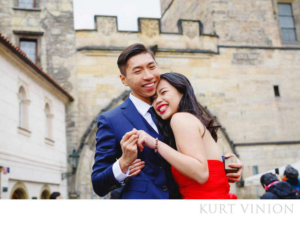 She said Yes Prague marriage proposal with R&F