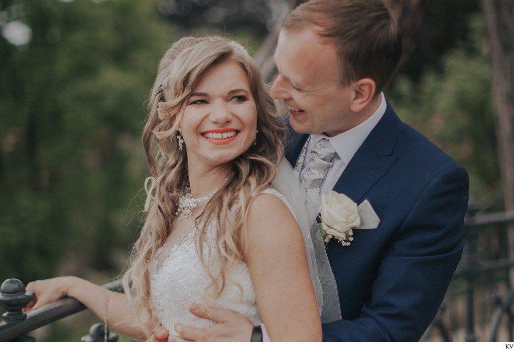 Smiling bride & the lucky groom - Prague weddings