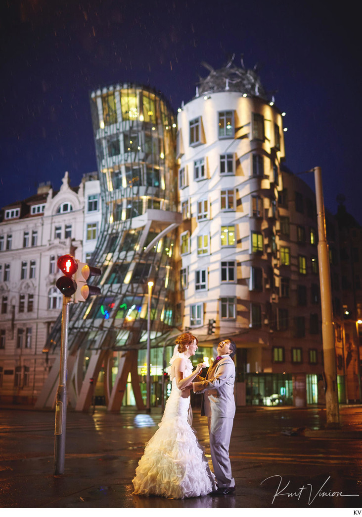 Dancing House wedding couple