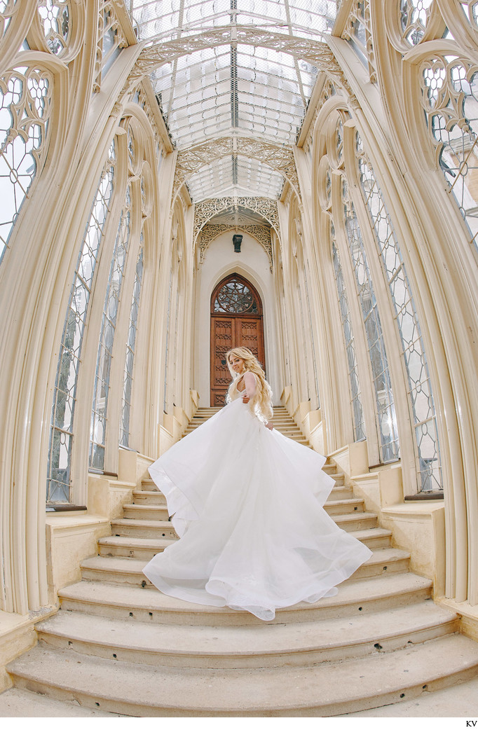 radiant bride pictured at Castle Hluboka nad Vltavou