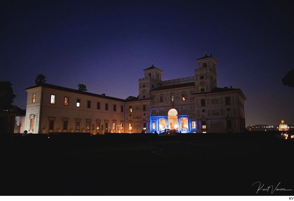 Villa Medici VIP wedding dinner & party Rome Italy