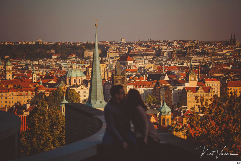 Prague skyline silhouette Artistic E-Session