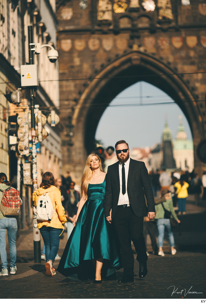Liv & Adam editorial styled engagement photos Prague