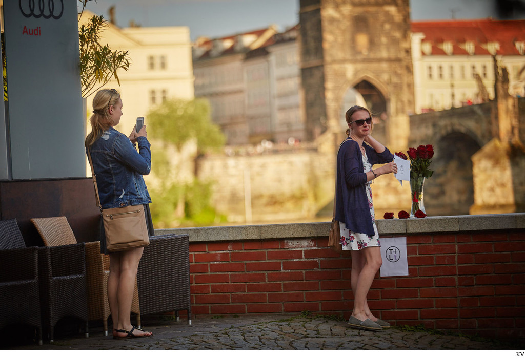 finding a love letter I Prague marriage proposal