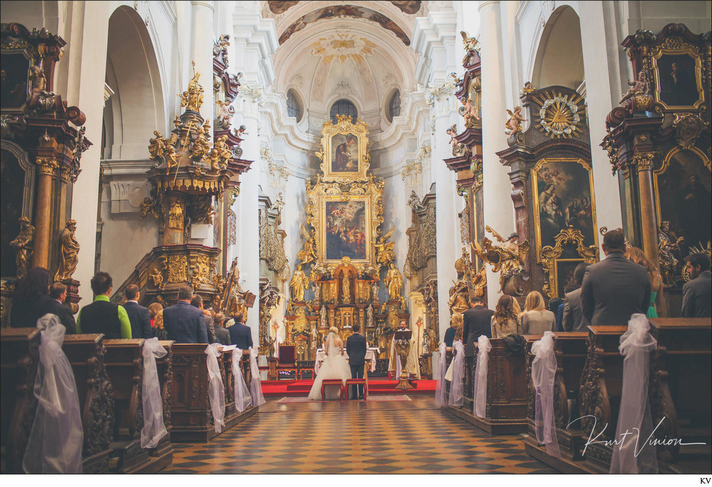 St. Thomas weddings Prague interior view