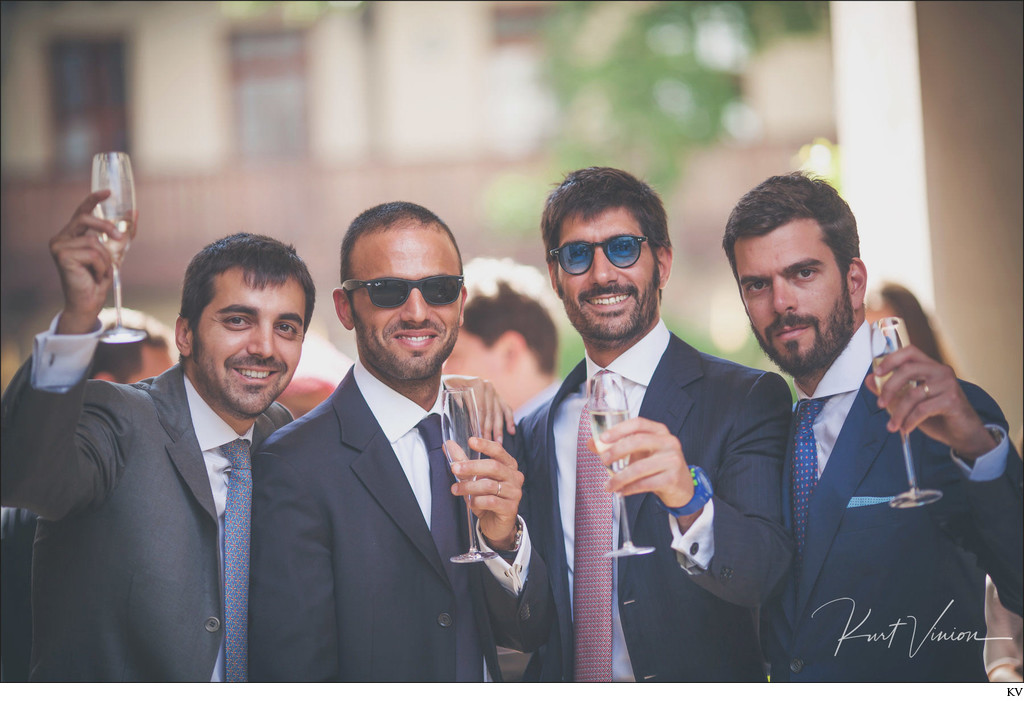 The lads Augustine Prague wedding photos
