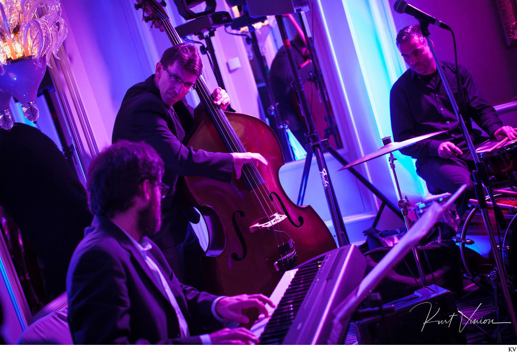 Jazz band performs Four Seasons Hotel Prague wedding