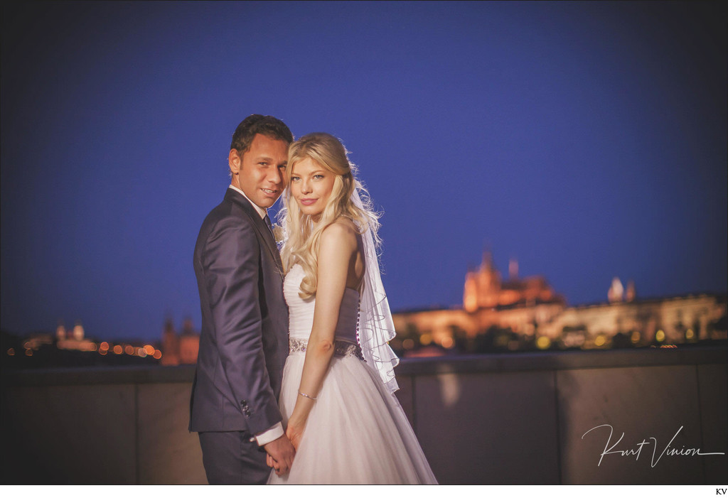 Julia & Sergio Four Seasons Prague rooftop photo