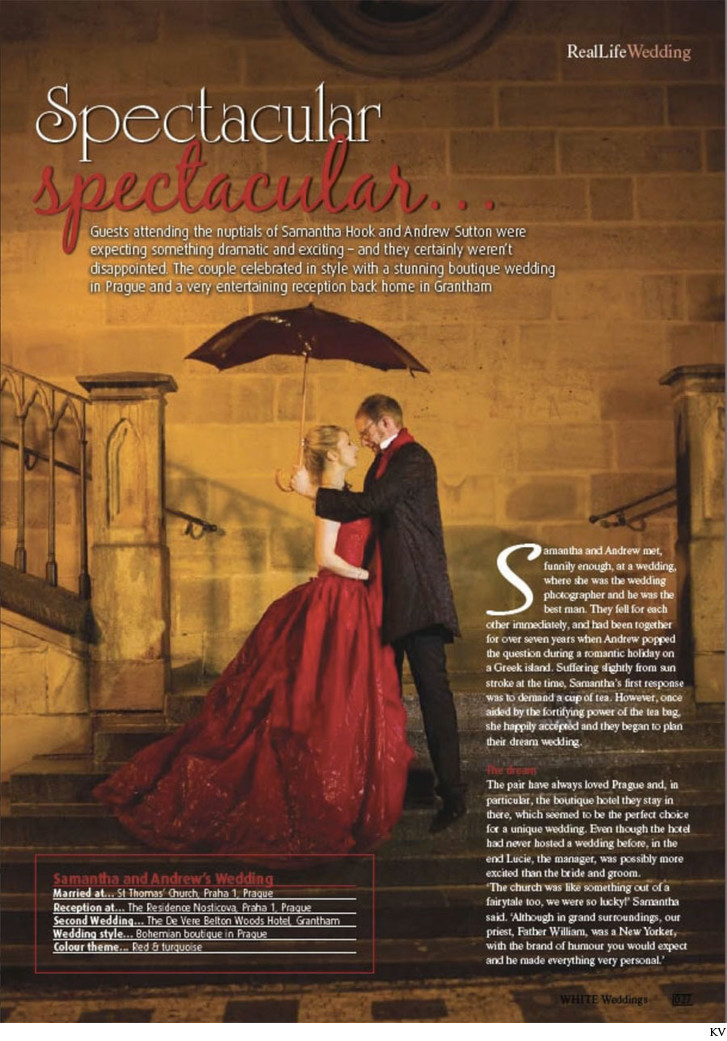 Real Life weddings magazine feature S&A layout 1
