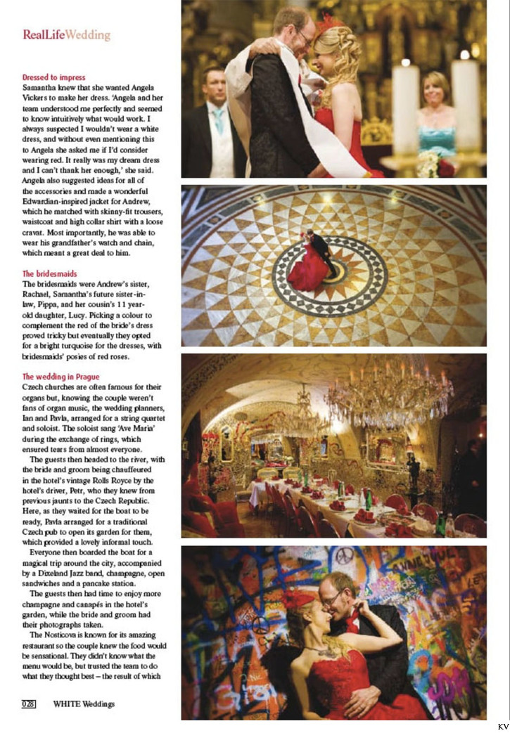 Real Life weddings magazine feature S&A layout 2