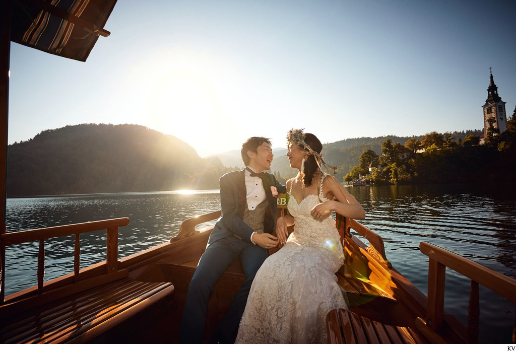 The happy couple I Lake Bled destination weddings