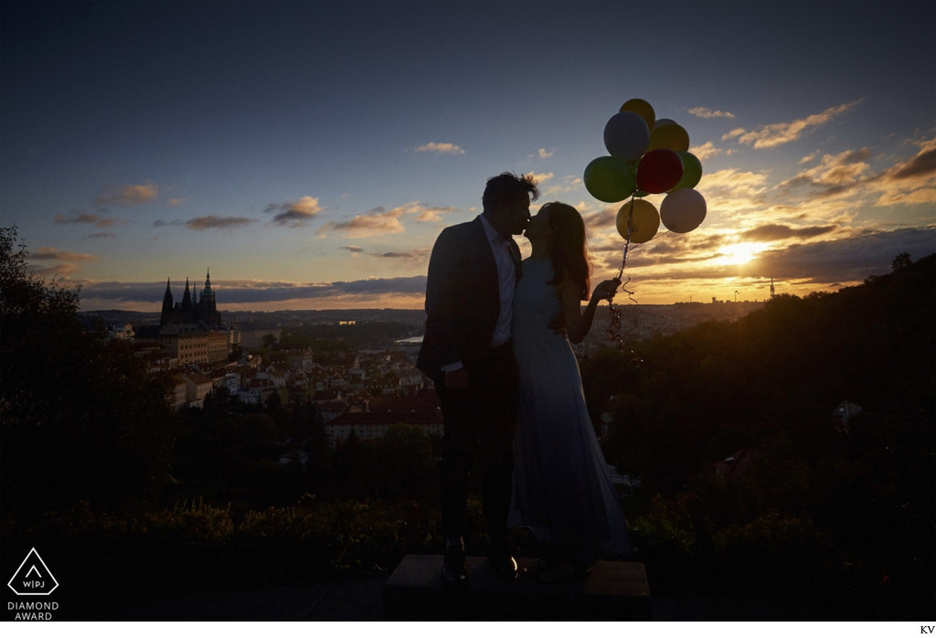 WPJA Diamond Award - Prague - sunrise engagement