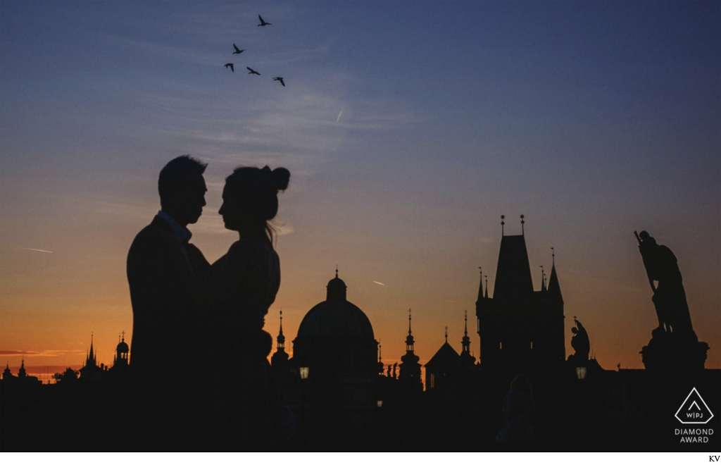 WPJA Award Wining Image Prague Marriage proposal