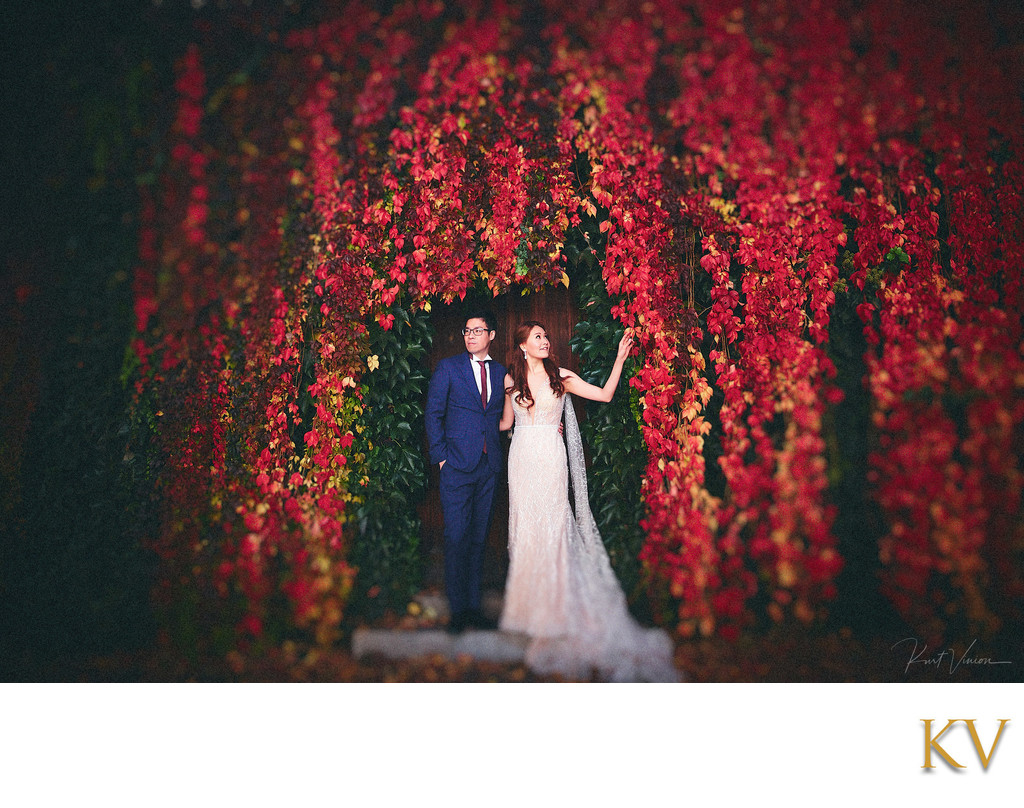 Beautiful Autumn Colors for the beautiful bride & groom