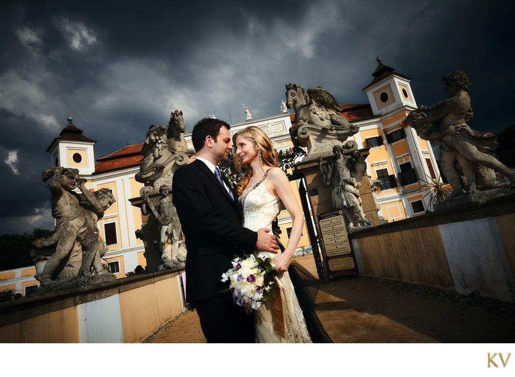 NYC couple wedding in Moravia Chateau Milotice