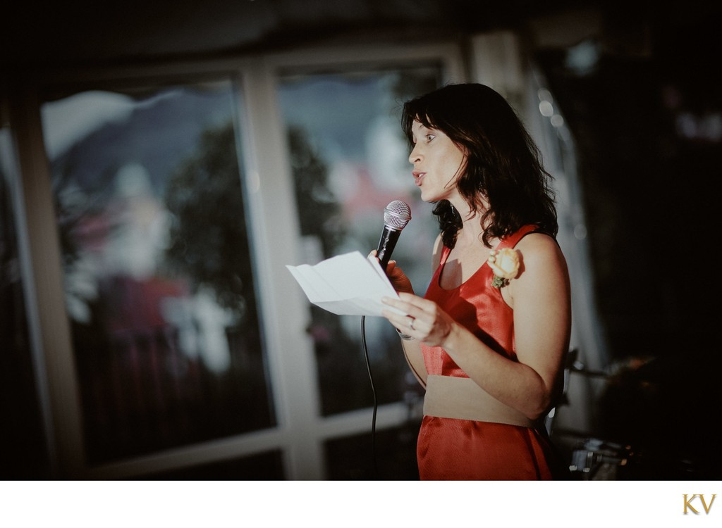 Bridesmaids speech - Villa Richter Prague