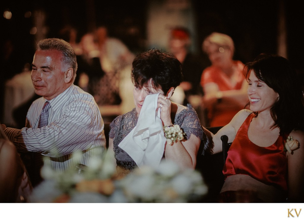 Grooms mother tears up during speeches