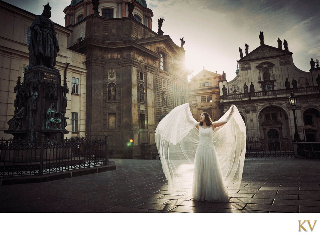 bathed in the summer sunlight bride & veil photo