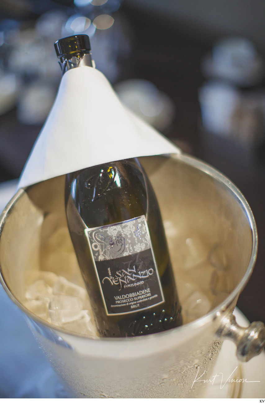 Prosecco for the bride Augustine Hotel weddings