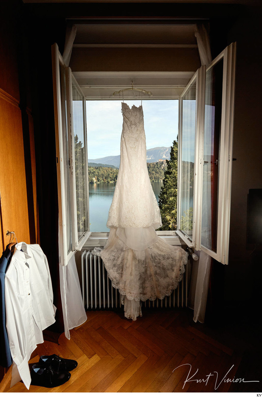 Wedding dress Vila Bled Luxury weddings