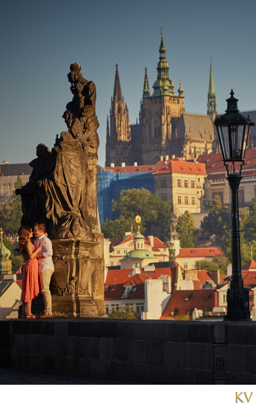 Adventurous couple during their Prague E-Session