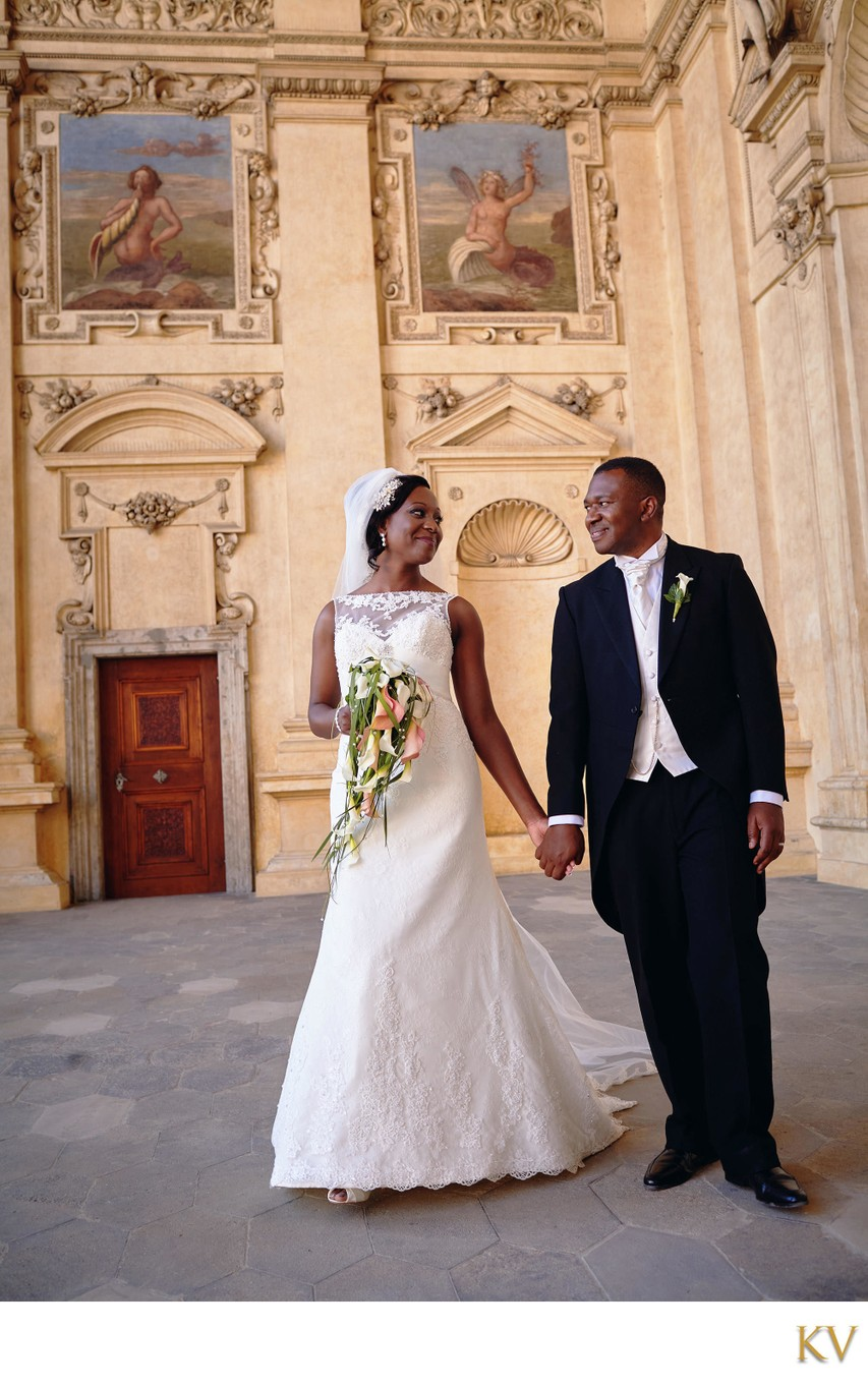 Chika & Emeka wedding photo from the Wallenstein Palace