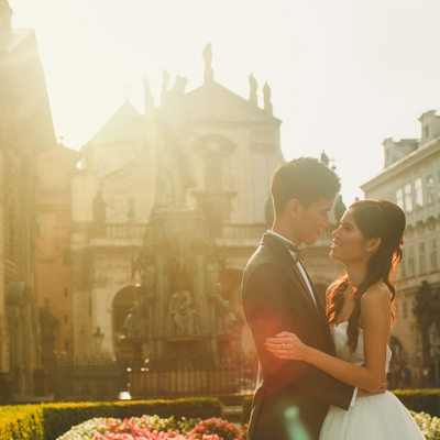Golden Hour intimate moment H+P Prague