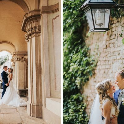 Bride & Groom portraits captured at the Ledebour Garden
