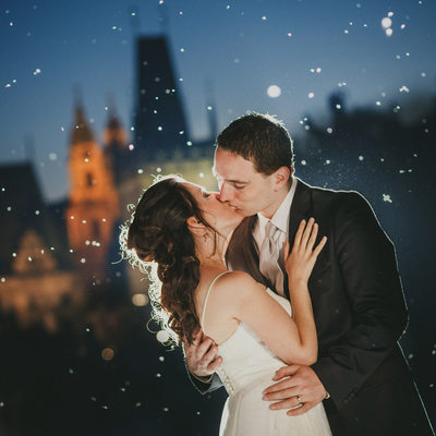 romantic wedding day portraits from Prague
