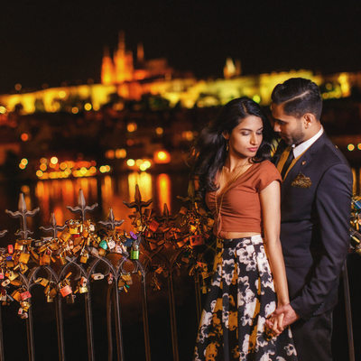 romantic Prague marriage proposal sexy portrait